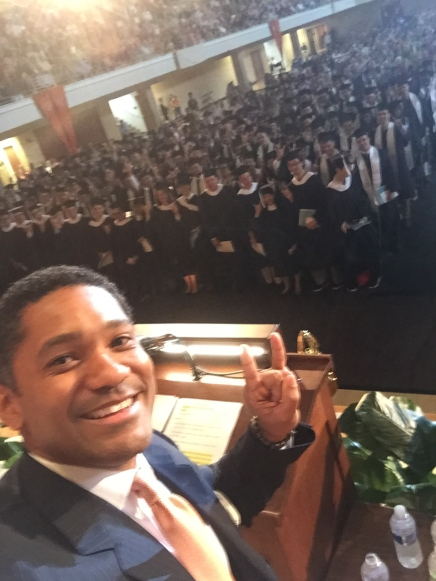 Jason Lamin - selfie at UT Graduation -7-7-16